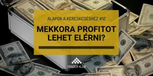 Mekkora profitot lehet elérni a kereskedéssel?