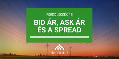 Bid ár, Ask ár és a spread