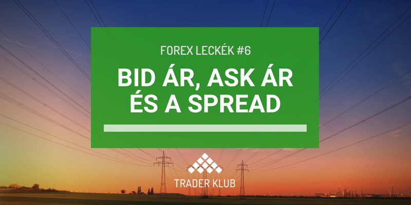 Bid ár, Ask ár és a spread