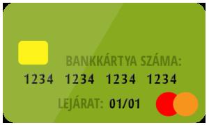 Egy bankkártya elülső oldala