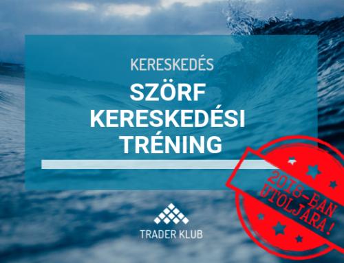 Szörf Kereskedési Tréning – 2018-ban utoljára