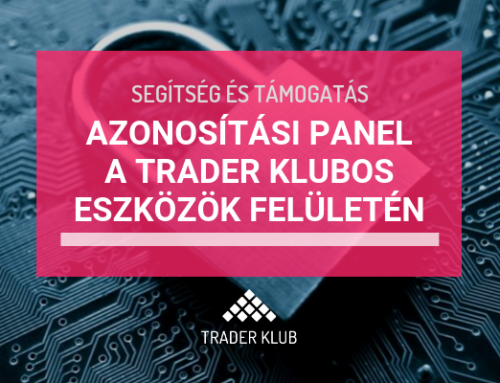 Azonosítási panel a Trader Klubos eszközök felületén