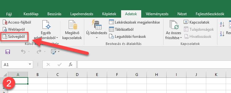 CSV fájl importálása