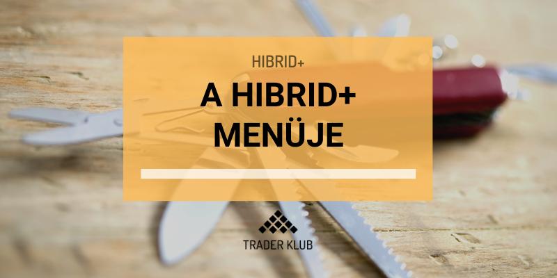 A Hibrid+ menüje