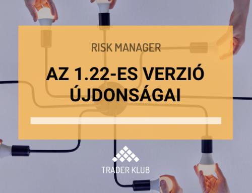 Videó a Risk Manager 1.22-es verziójának új funkcióiról