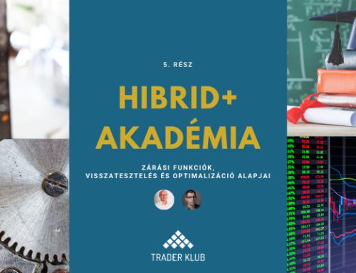 Hibrid+ Akadémia 5. rész: Zárás, visszatesztelési és optimalizálási alapok
