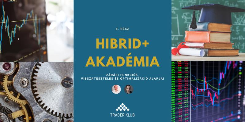 Hibrid+ Akadémia 5. rész: Zárás, visszatesztelési és optimalizációs alapok