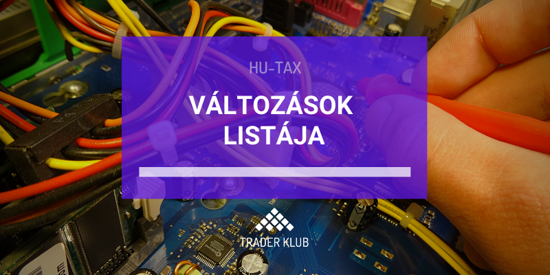 HU-TAX változások listája